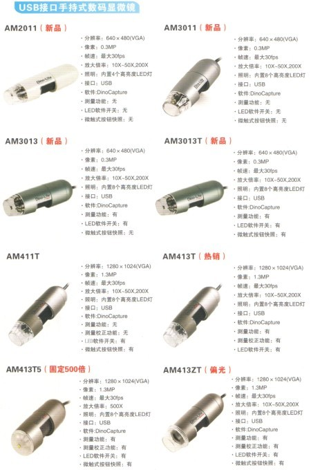 Dino-Lite手持式USB数码显微镜