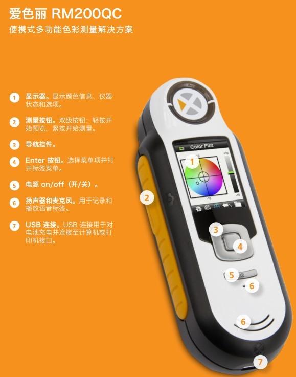 X-RITE爱色丽 RM200QC 影像分光色差仪