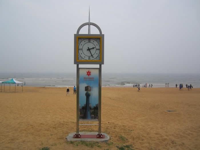 山东威海国际海水浴场景观钟工程