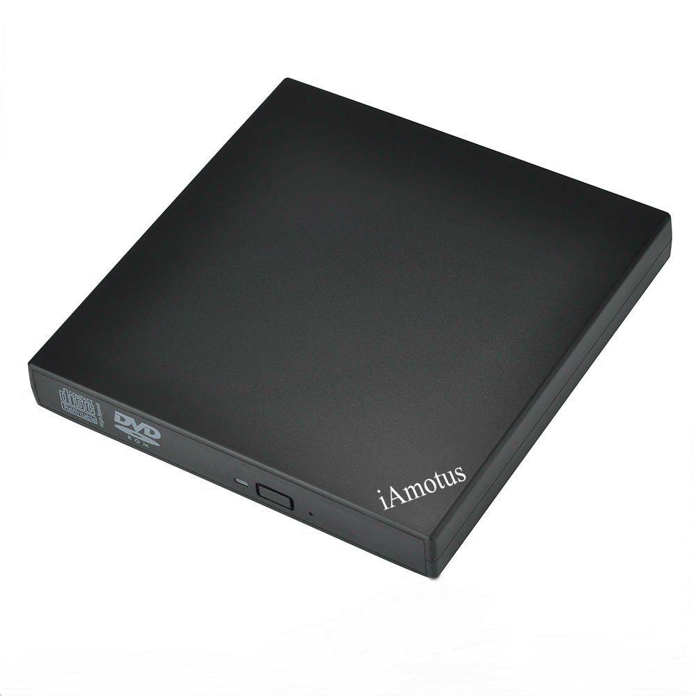 External DVD Driver, iAmotus Protable USB 2.0 DVD CD ROM Drive Burners Player Writer for Laptops, Desktops, Notebooks