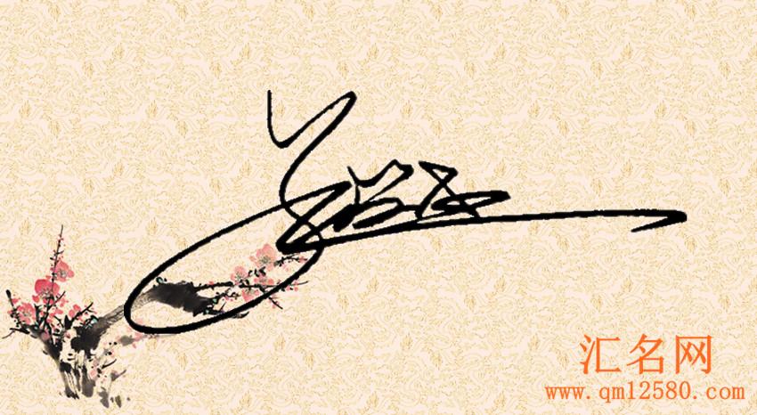 朱仲桓最新百家姓公益艺术签名作品欣赏草书合文签孔润杰图片