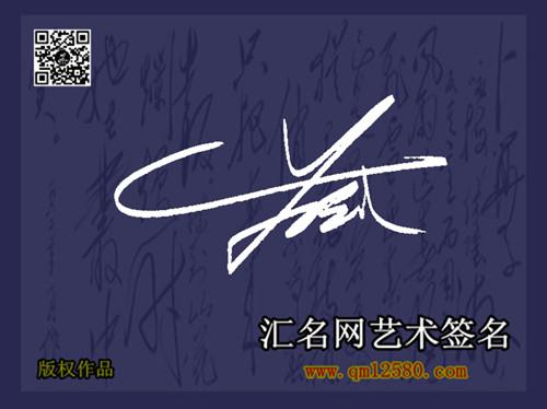 苏武潇洒花体艺术签名图片