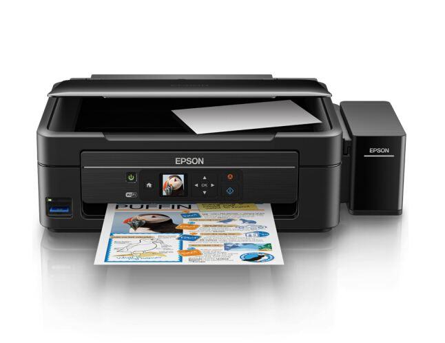 爱普生(EPSON)L485墨仓式智能无线打印机 彩色喷墨一体机
