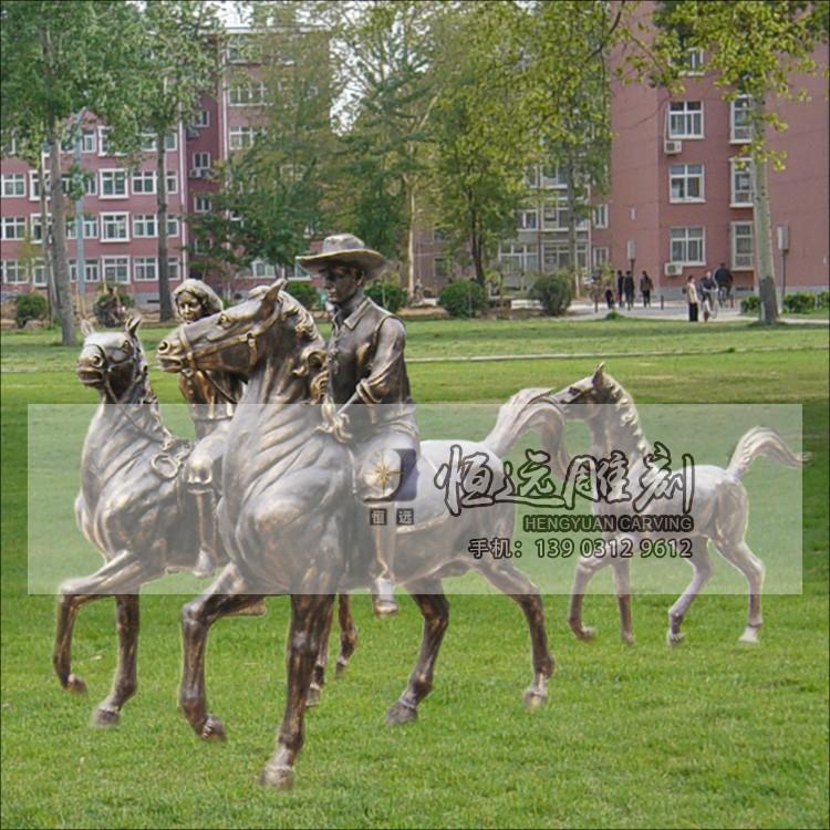 仿铜雕塑-骑马人物-HYFT-1001