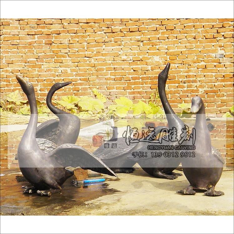 仿铜雕塑-动物-鹅-HYFT-2003
