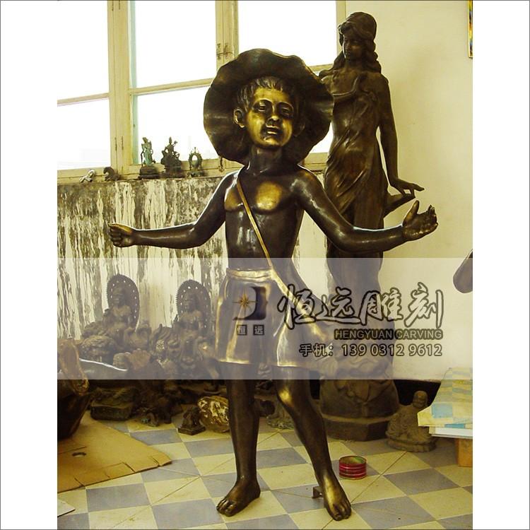 仿铜雕塑-铜雕儿童-HYFT-1004