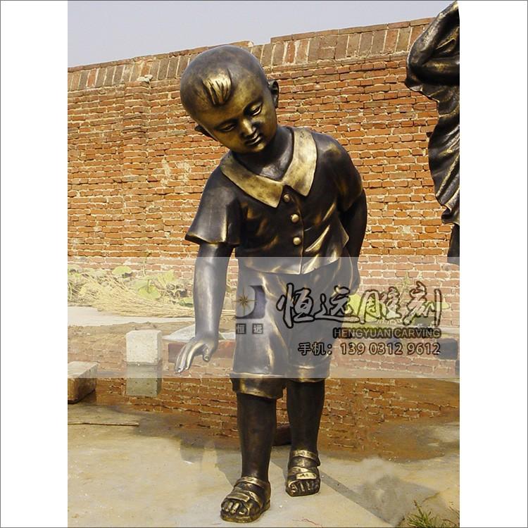 仿铜雕塑-铜雕儿童-HYFT-1003