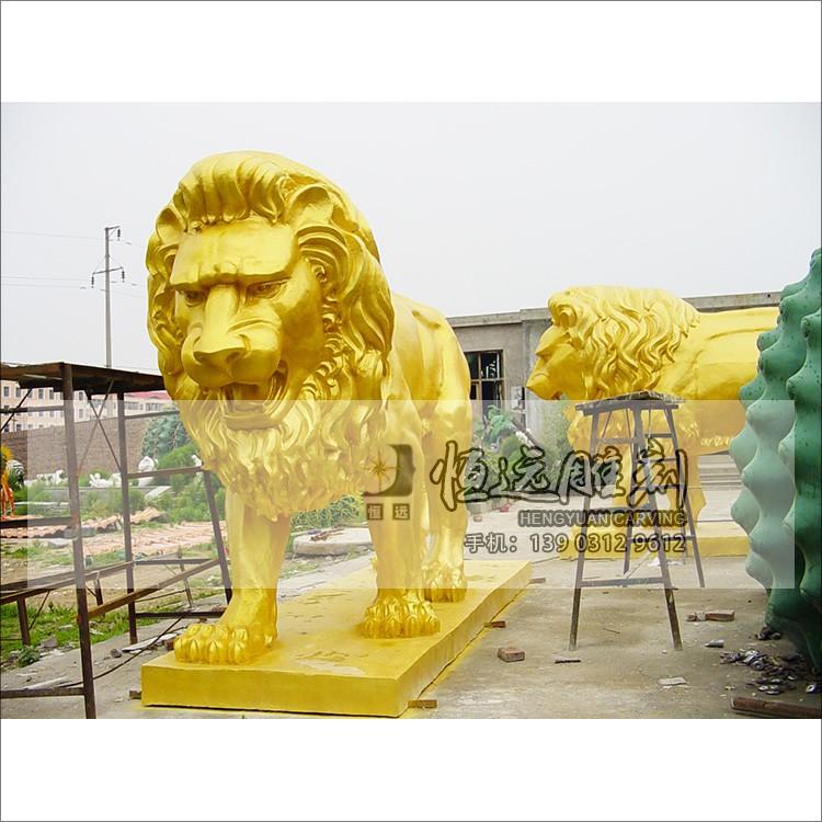 仿铜雕塑-铜狮子HYFT-2002
