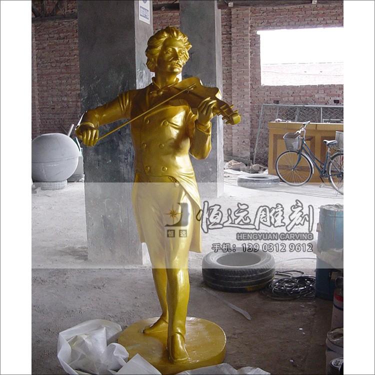 仿铜雕塑-小提琴人物-HYFT-1002
