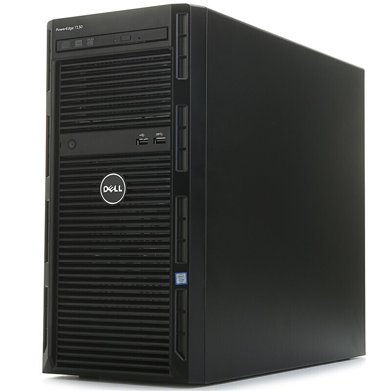 戴尔 DELL T130 塔式服务器(E3-1220V5/8G/1T*2 SATA企业级/DVD/290W电源)三年上门服务Cpu:E3-1220V5