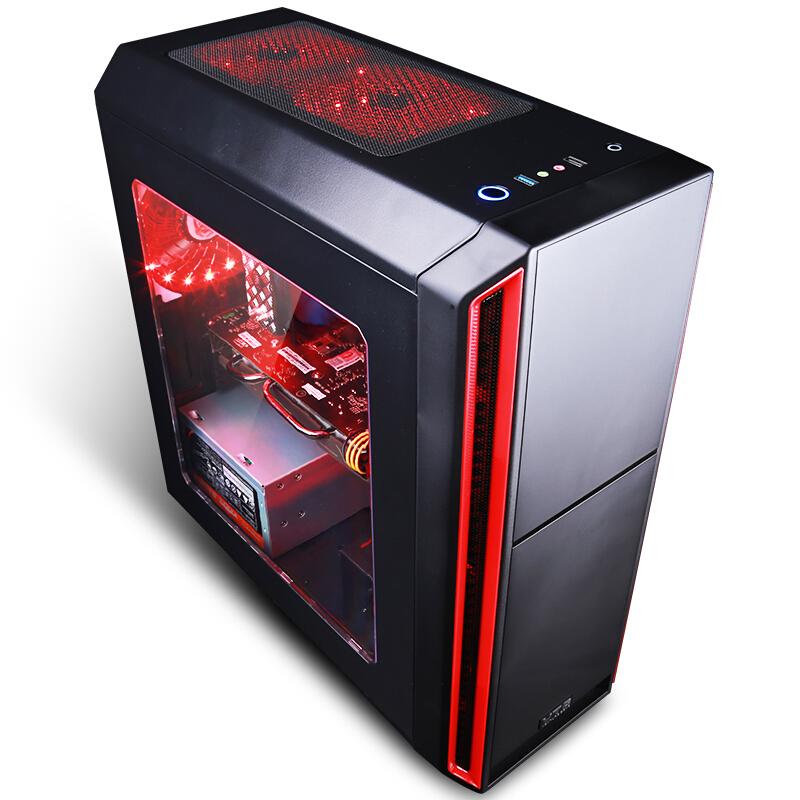 立伟世纪  酷睿i5 四核/GTX1060 游戏台式吃鸡电脑主机DIY组装机