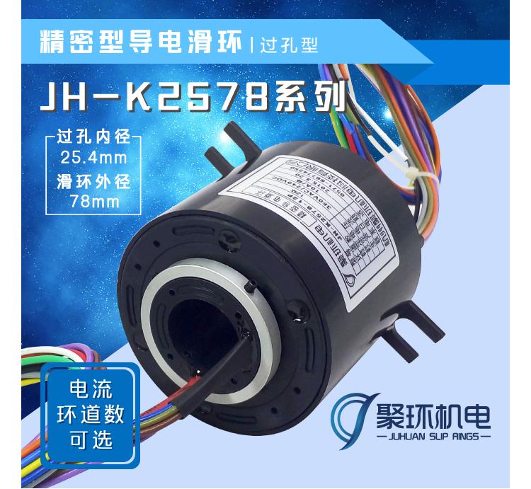 JH-K2578系列过孔型导电滑环
