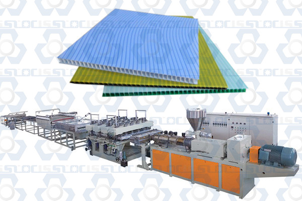 S Shape PP Hollow Sheet Production Line