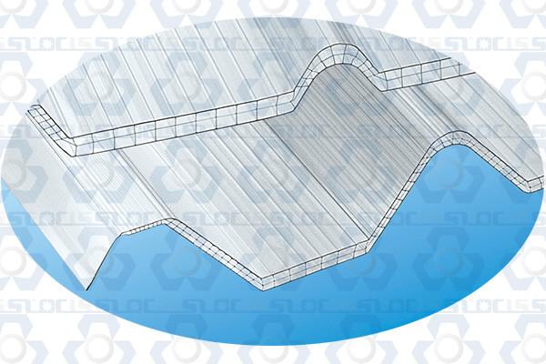 Polycarbonate PC Greca Corrugated Roofing Tile Making Machine