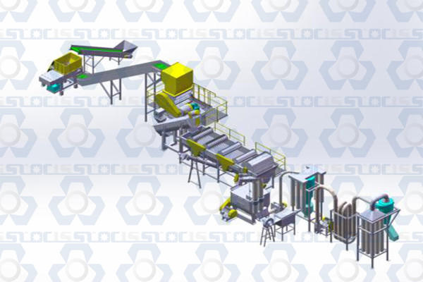 PE PP Film Crushing, Washing, Cleaning and Recycling Line