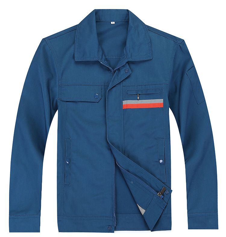 厂家直销天津北京工作服套装 劳保工作服定做 涤棉长袖男女厂服