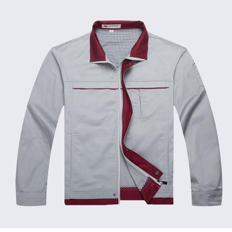 天津春秋长袖工作服厂服套装定做工地工程汽修电焊劳保服