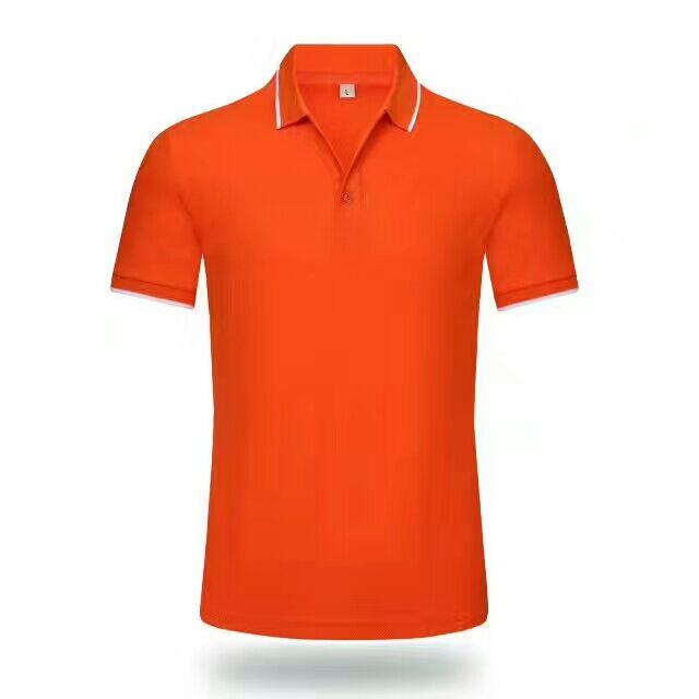 天津厂家直销翻领短袖文化衫定制广告衫定做空白T恤衫