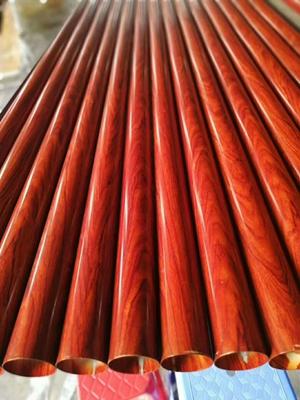 定制各種木紋不銹鋼管  熱轉印木紋面橢圓形凹槽不銹鋼玻璃扶手管