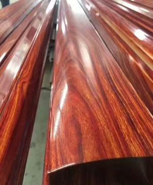 橢圓凹木紋凹槽不銹鋼玻璃扶手管