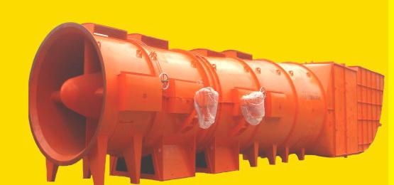 南阳防爆电机FBCDF系列煤矿井下用防爆抽出式对旋轴流辅助通风机