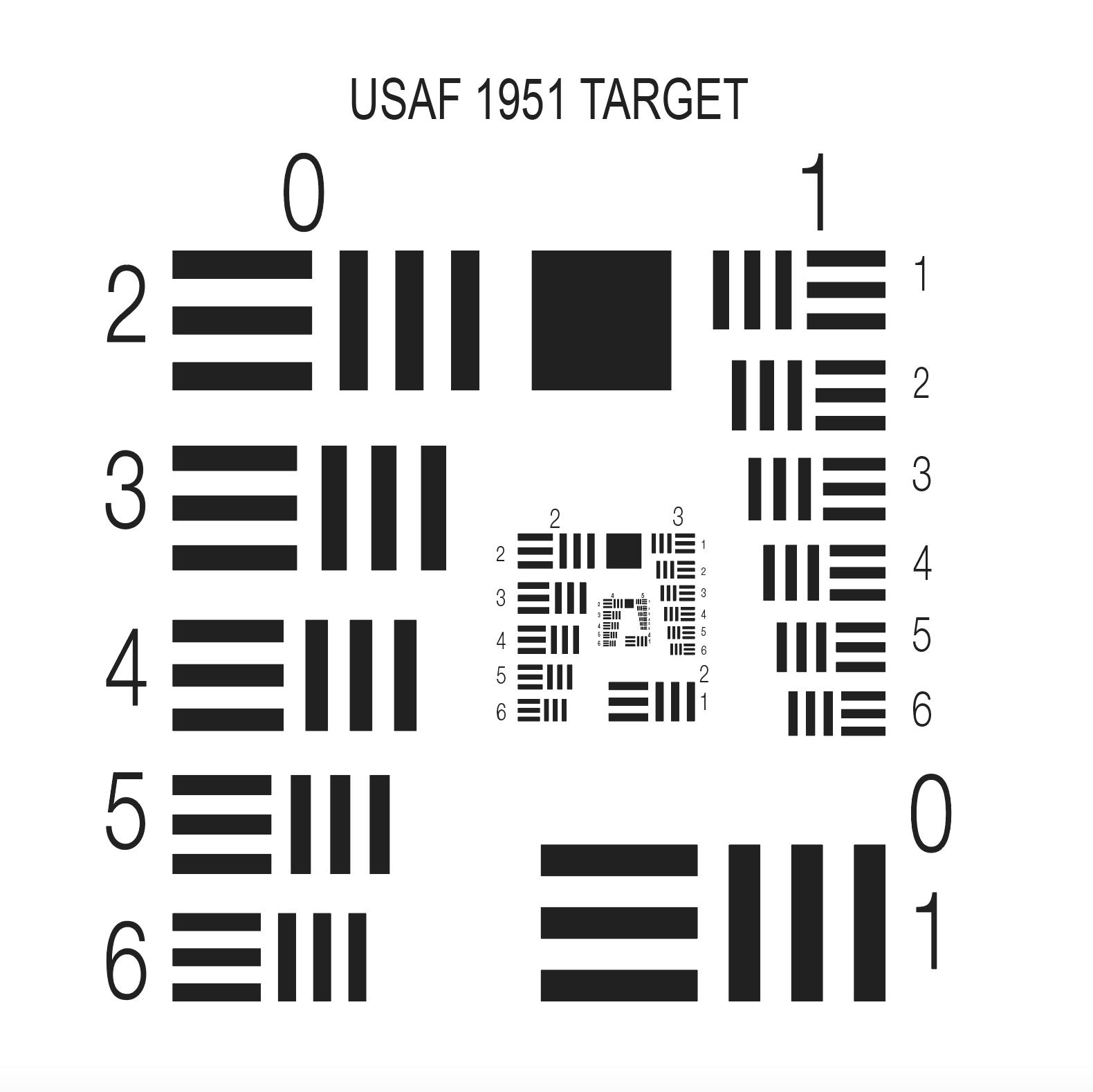 USAF分辨率测试卡 / 标定板
