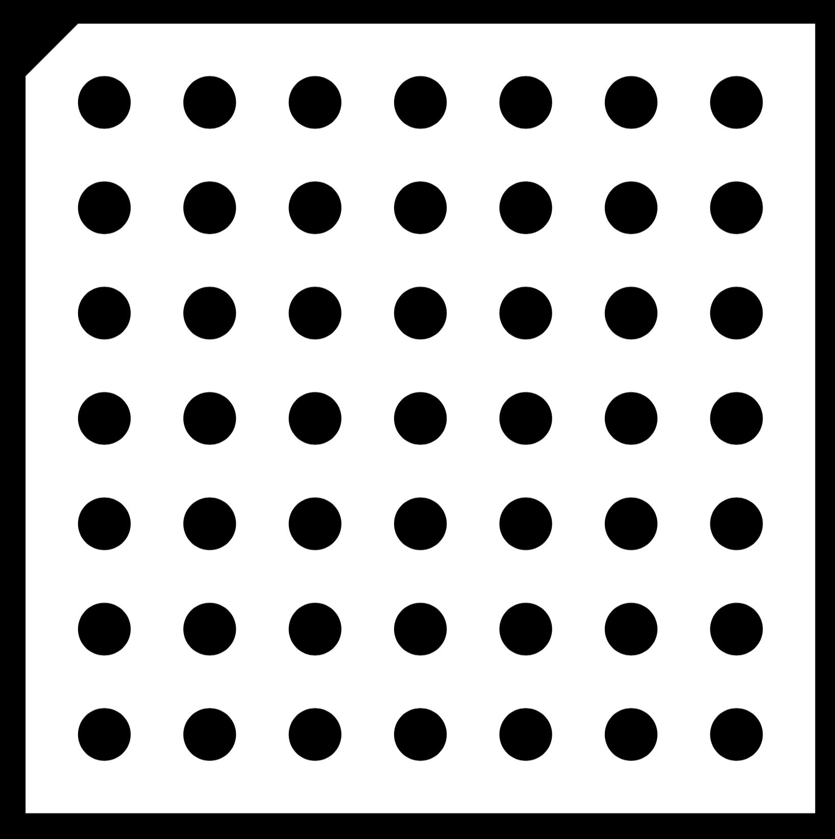实心圆点测试卡 / Halcon双目视觉标定板