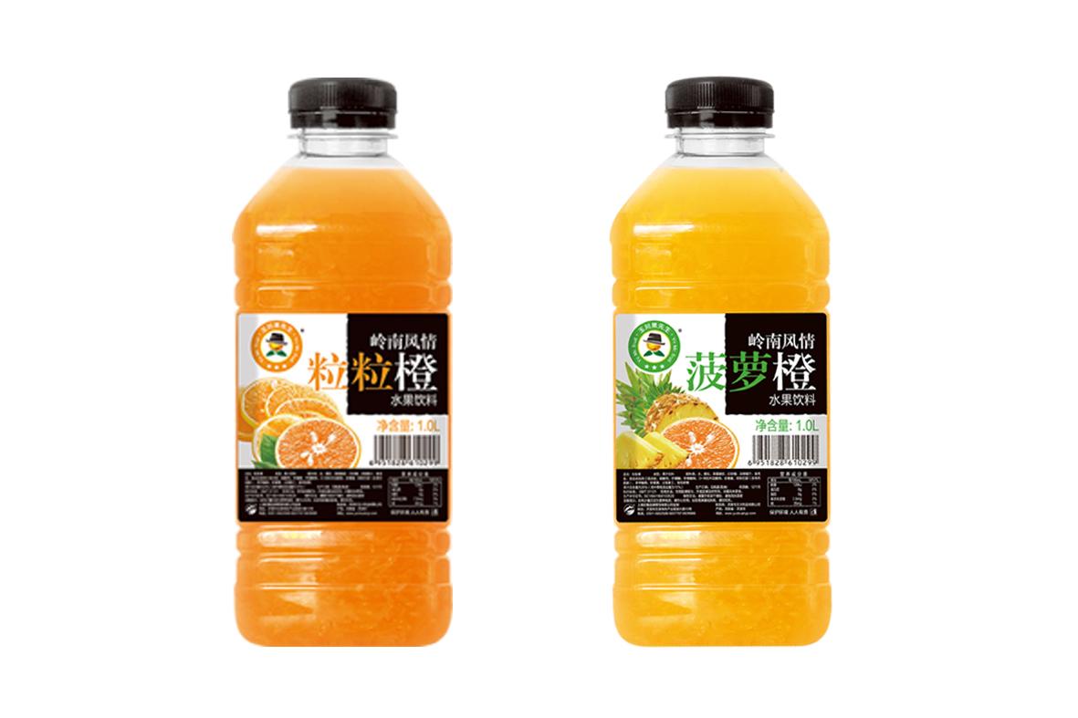 1L×12粒粒橙、菠萝橙水果饮料