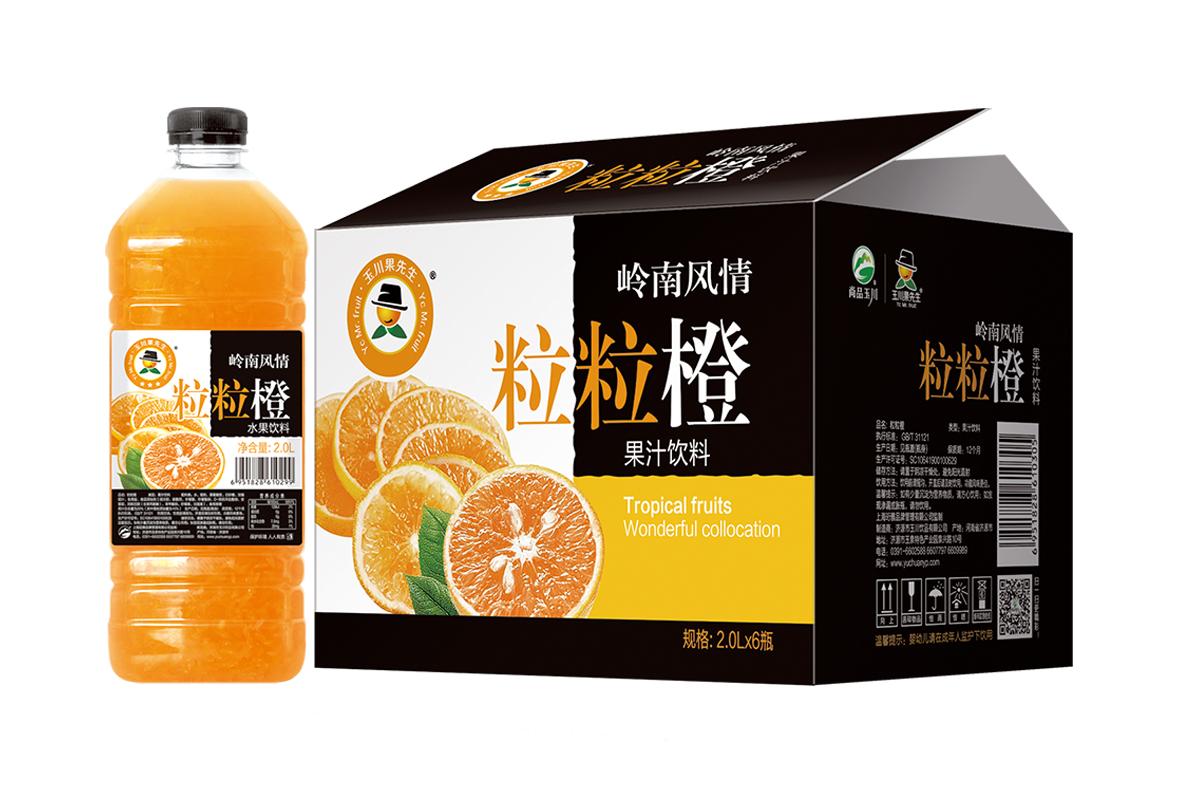 2L×6果先生粒粒橙饮料