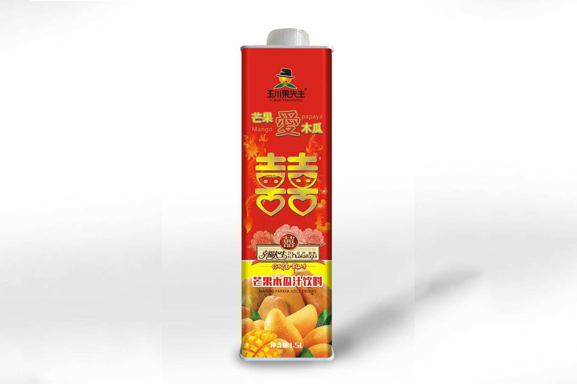 1.5L×6果先生喜慶裝 保鮮屋芒果木瓜汁飲料
