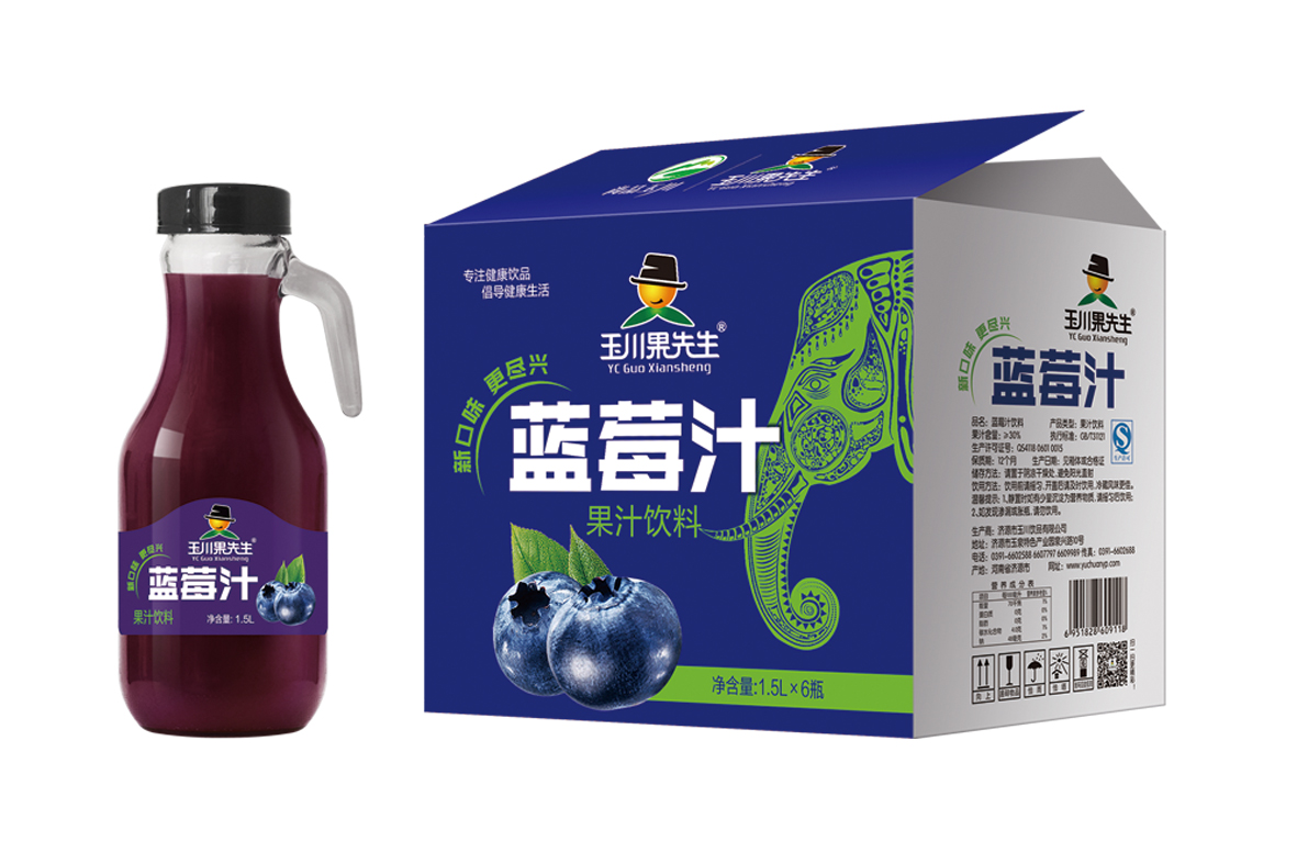 1.5L×6果先生手柄蓝莓汁饮料