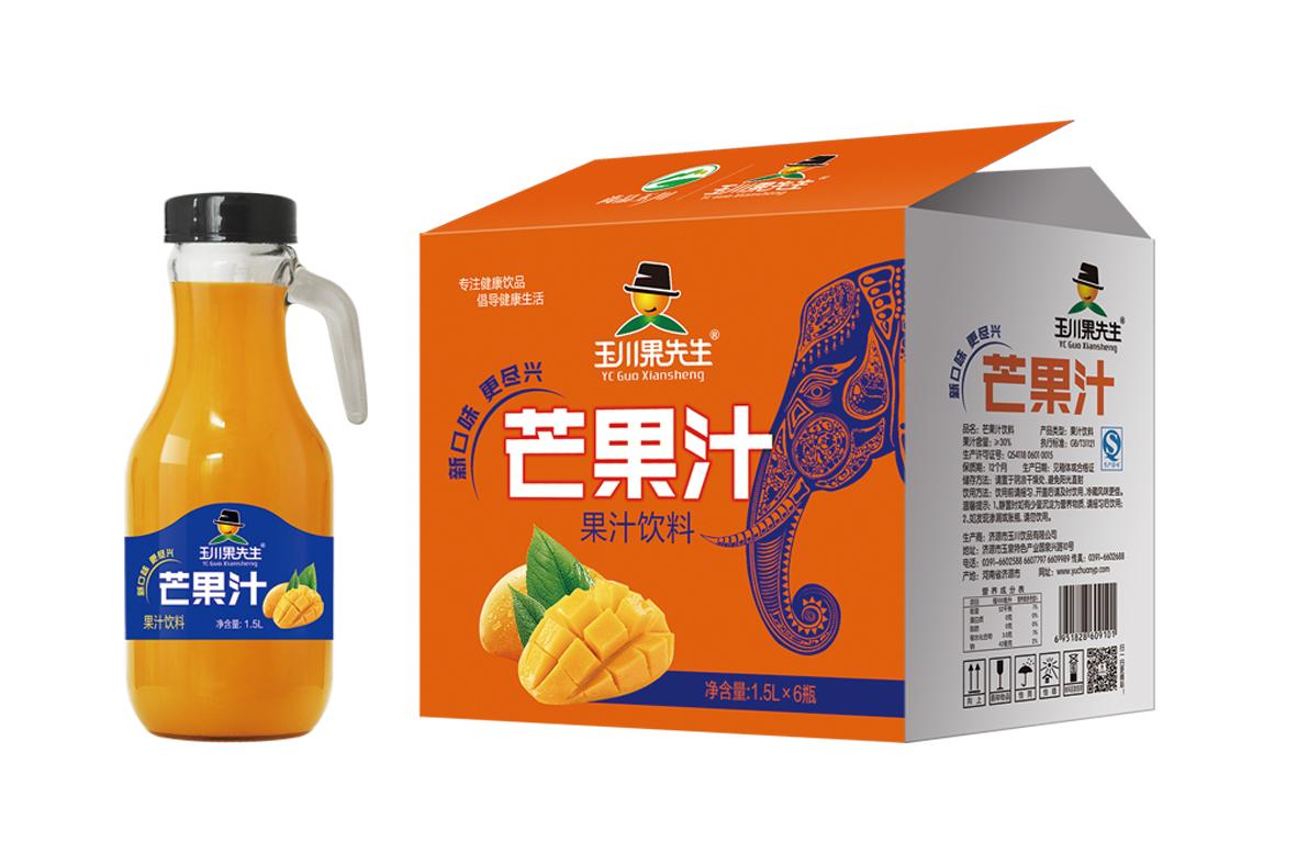 1.5L×6果先生手柄芒果汁饮料