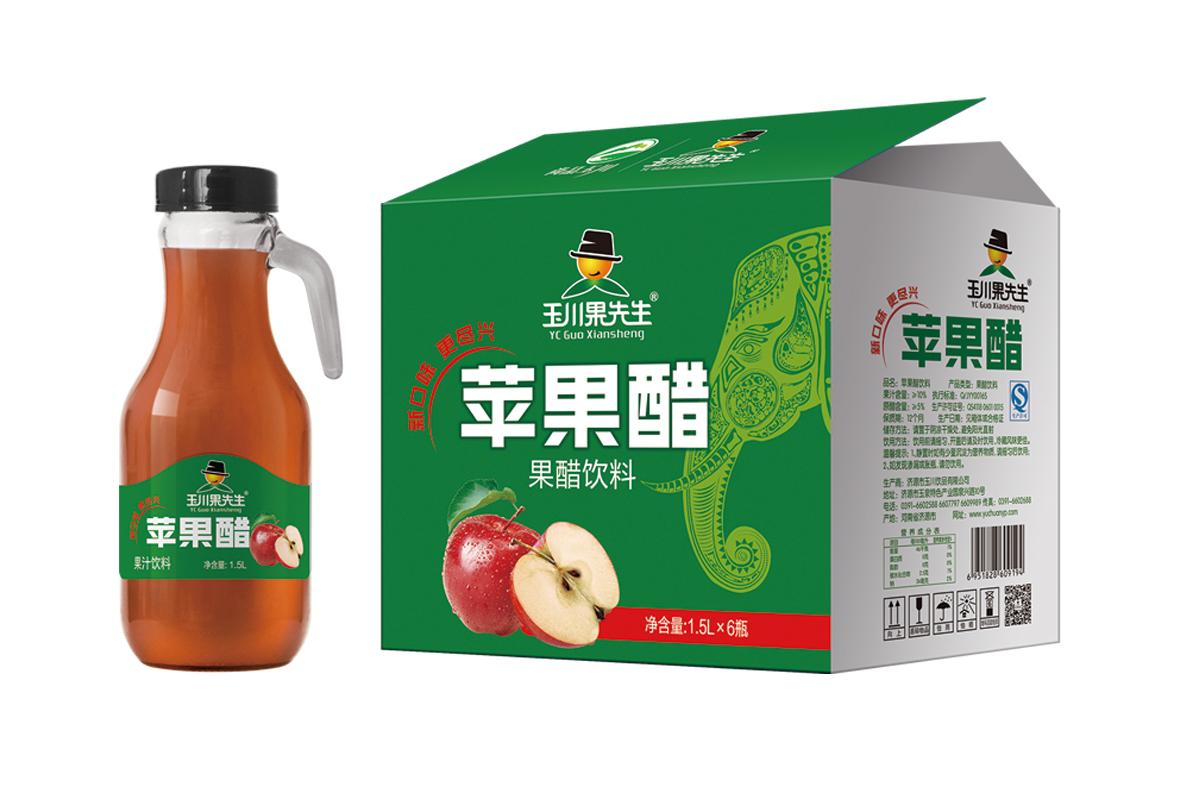 1.5L×6果先生手柄苹果醋饮料