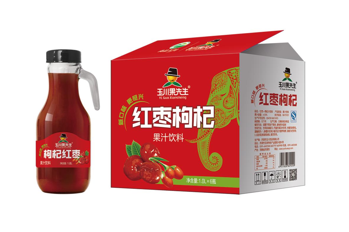 1L×6果先生手柄红枣枸杞汁饮料
