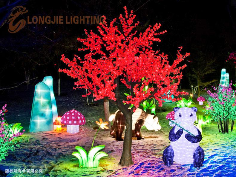仿真树灯 桃花树灯 LED仿真灯花树 高仿真桃树灯 可根据客人要求订制