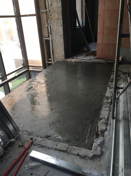 板浇筑混凝土