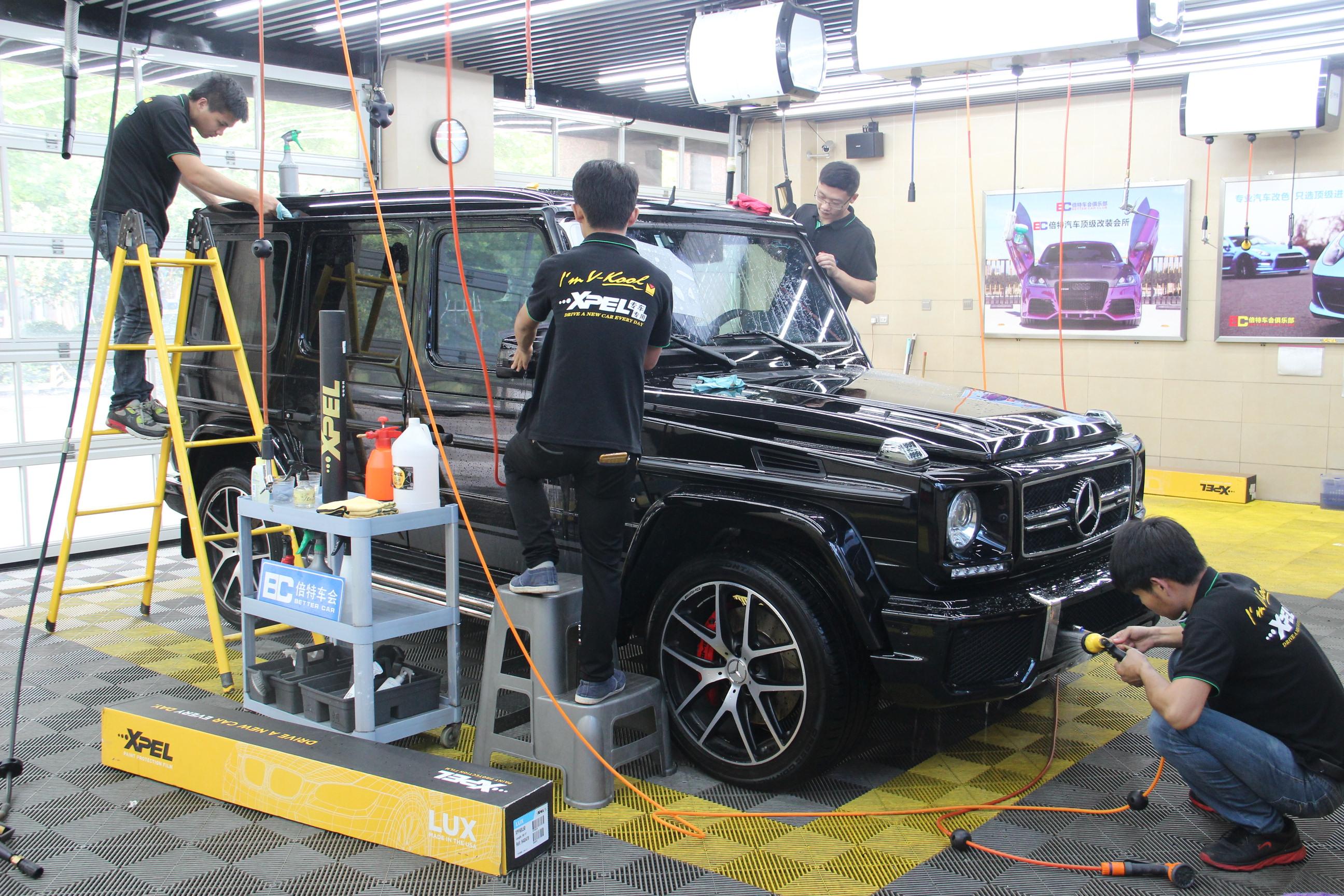 奔驰G63施工施工 XPEL LUX