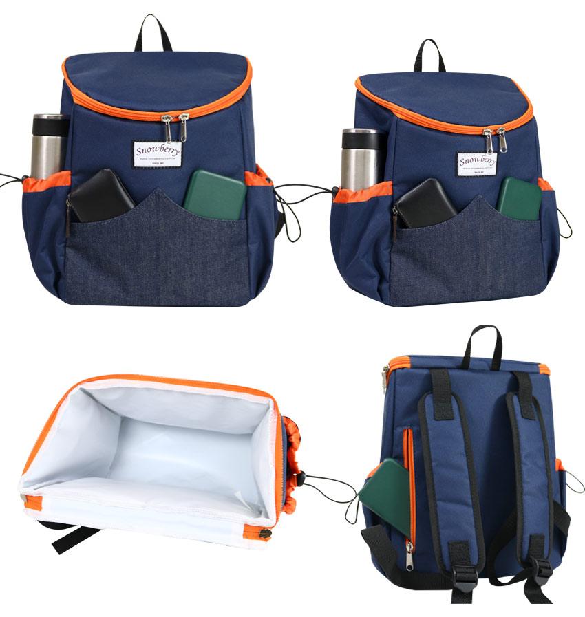 后背型保温冷袋-野餐,露营,旅行餐袋,便当水果零食都好放 - 展示图