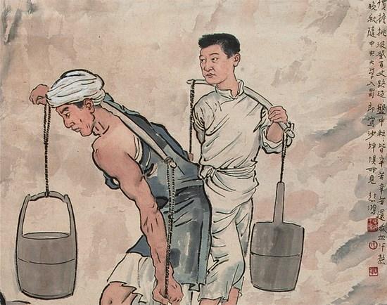 徐悲鸿1938年作《巴人汲水图》立轴,1.713亿元,