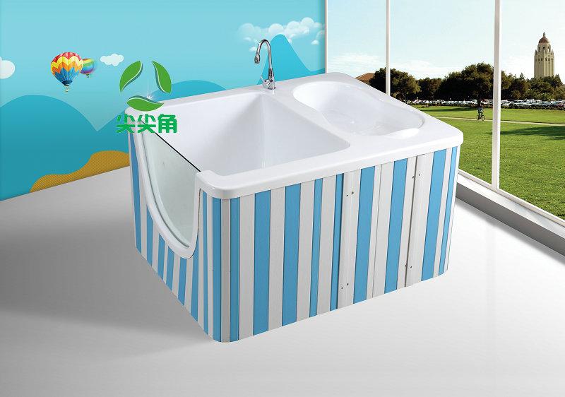 亚克力儿童洗澡游泳一体池可定制