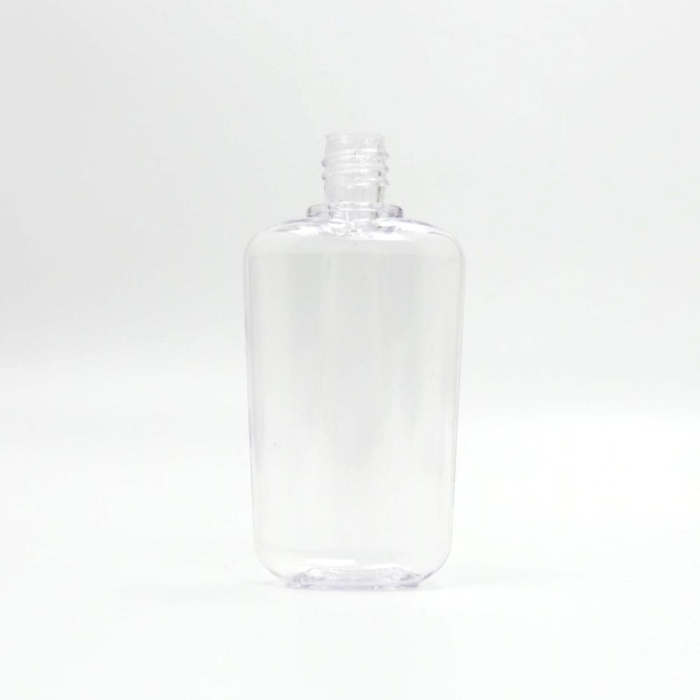 100ml透明扁瓶,PET塑料瓶,用于液體包裝,化妝品包裝