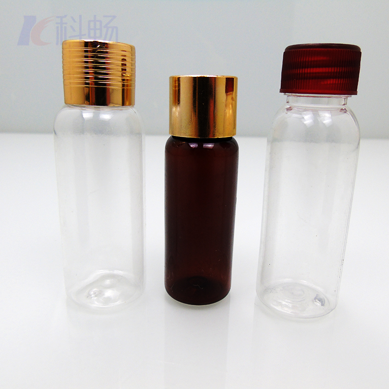 小瓶子,PET材質,用于化妝品分裝瓶,透明塑料瓶帶蓋,空瓶小藥瓶