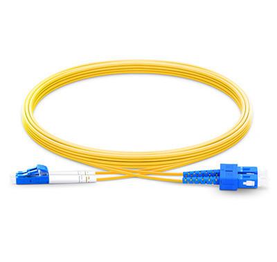 电信级弯曲不敏感LC/UPC-SC/UPC双工单模OS2光纤跳线 低插损 高回波