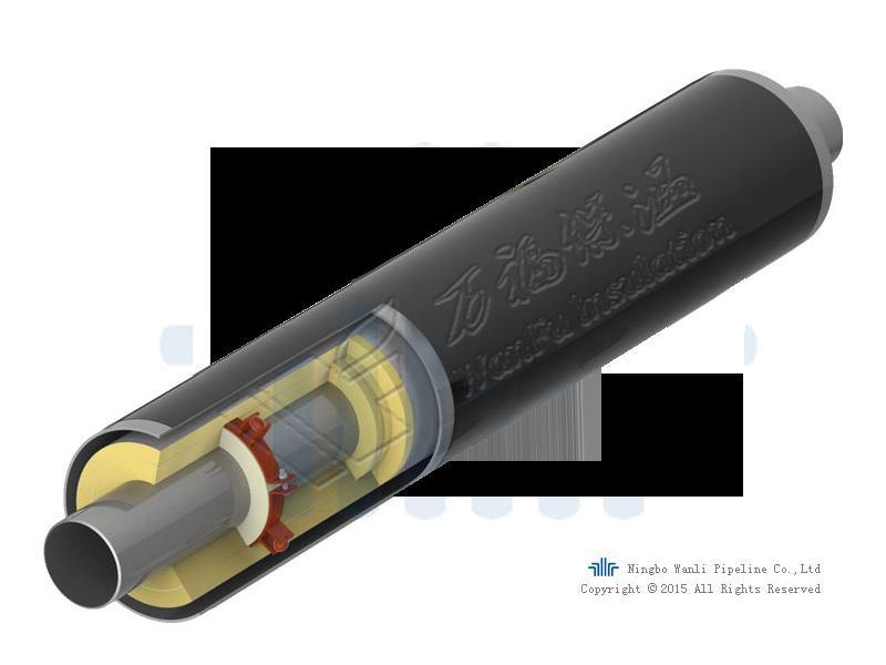 预制直埋蒸汽保温管结构图