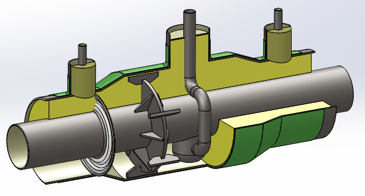 钢套钢地埋保温管结构