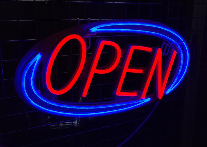 "Vasten ""Open""  LED Neon Sign"