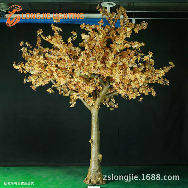 2952灯 高3米5仿真枫叶树,41个72灯树支PSD,高仿