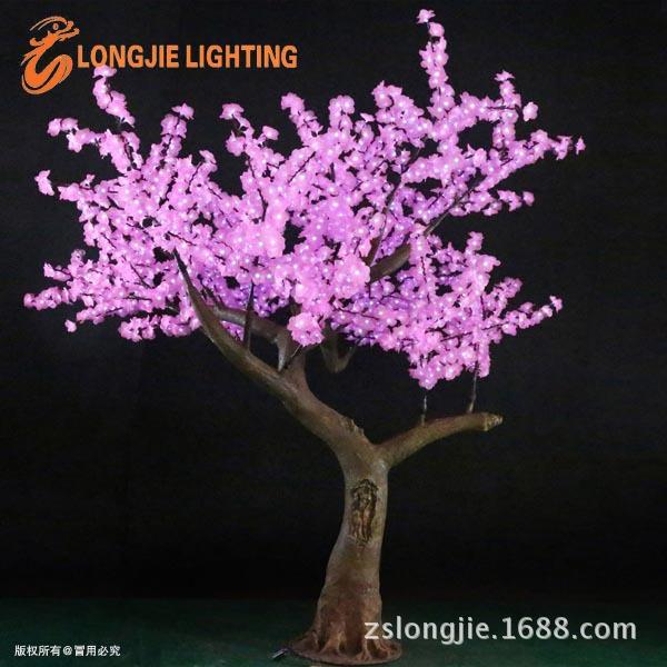 2268灯 高:2米5 粉红高仿真胶花 21个108灯花支