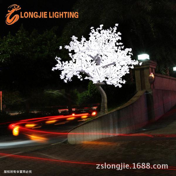 2544灯高3米 高仿白色真枫叶树灯 LJ-SM2544W-