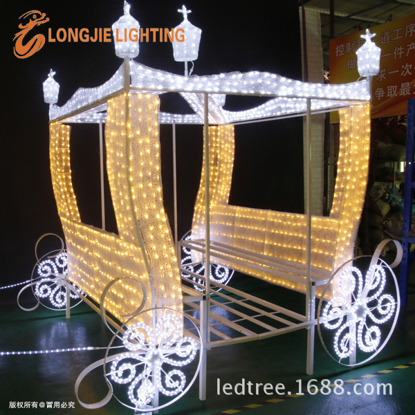 长7米 宽 2米 马拉车,笑脸造型灯 LJ-MLCZXD70